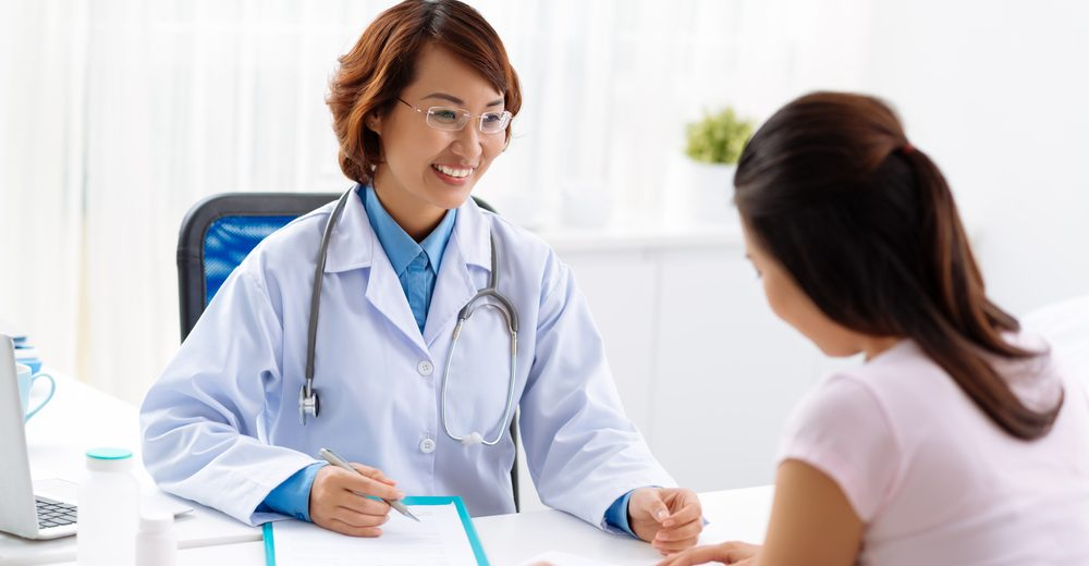 patient showing signs she needs doctor's help