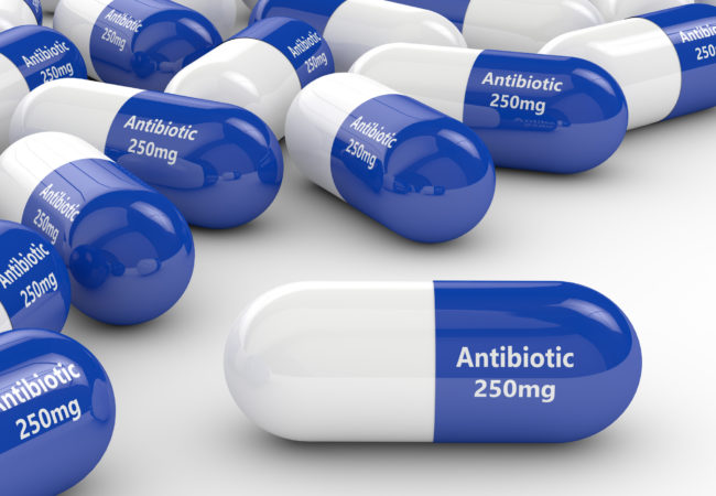 blue antibiotics